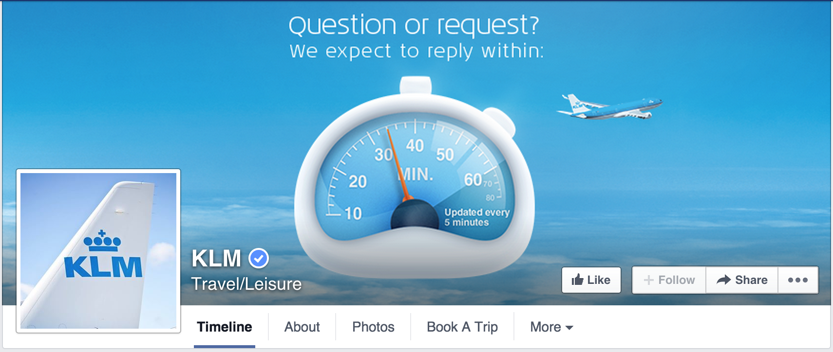 KLM facebook stranica