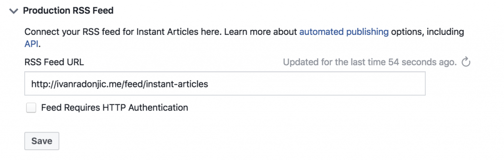 Instant Articles za Facebook stranice
